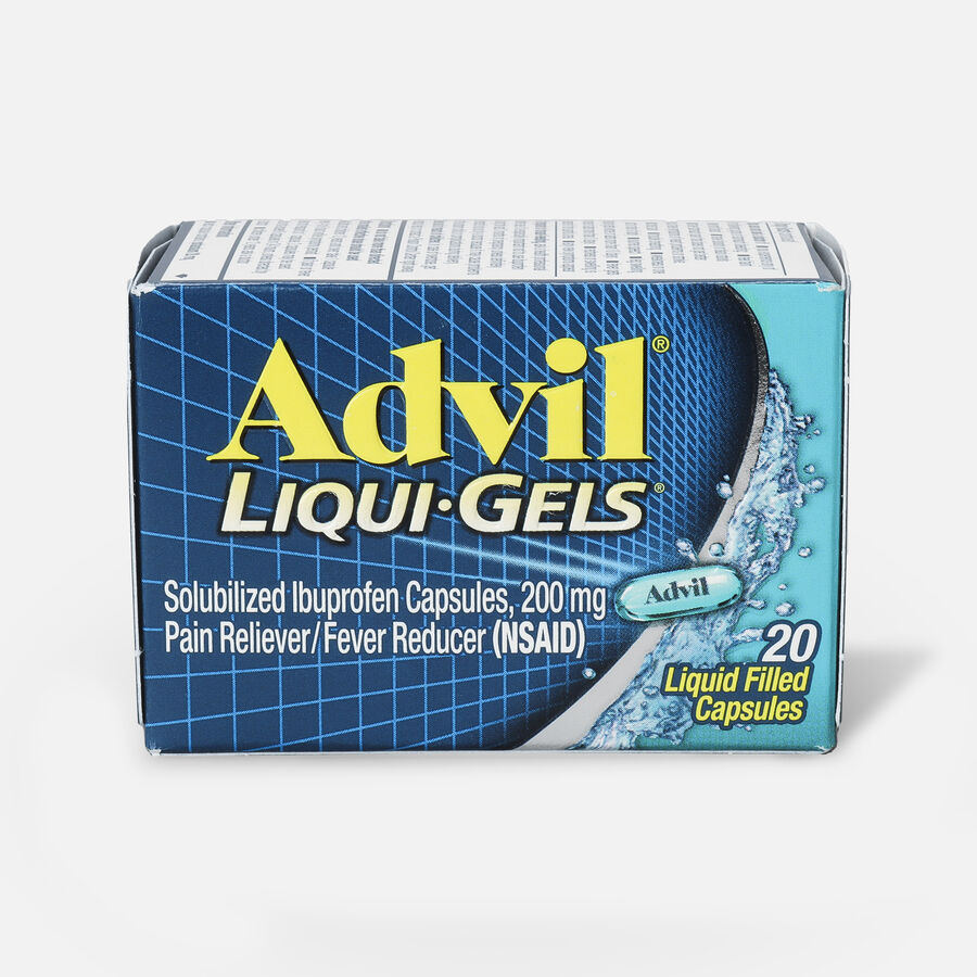 Advil Pain Reliever and Fever Reducer Liqui-Gels, 200mg, , large image number 1