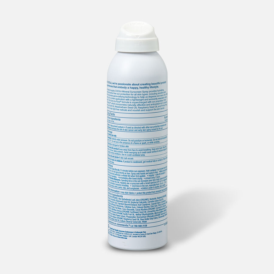 Coola Mineral Body Organic Sunscreen Spray SPF 30 Fragrance-Free, 5oz., , large image number 1