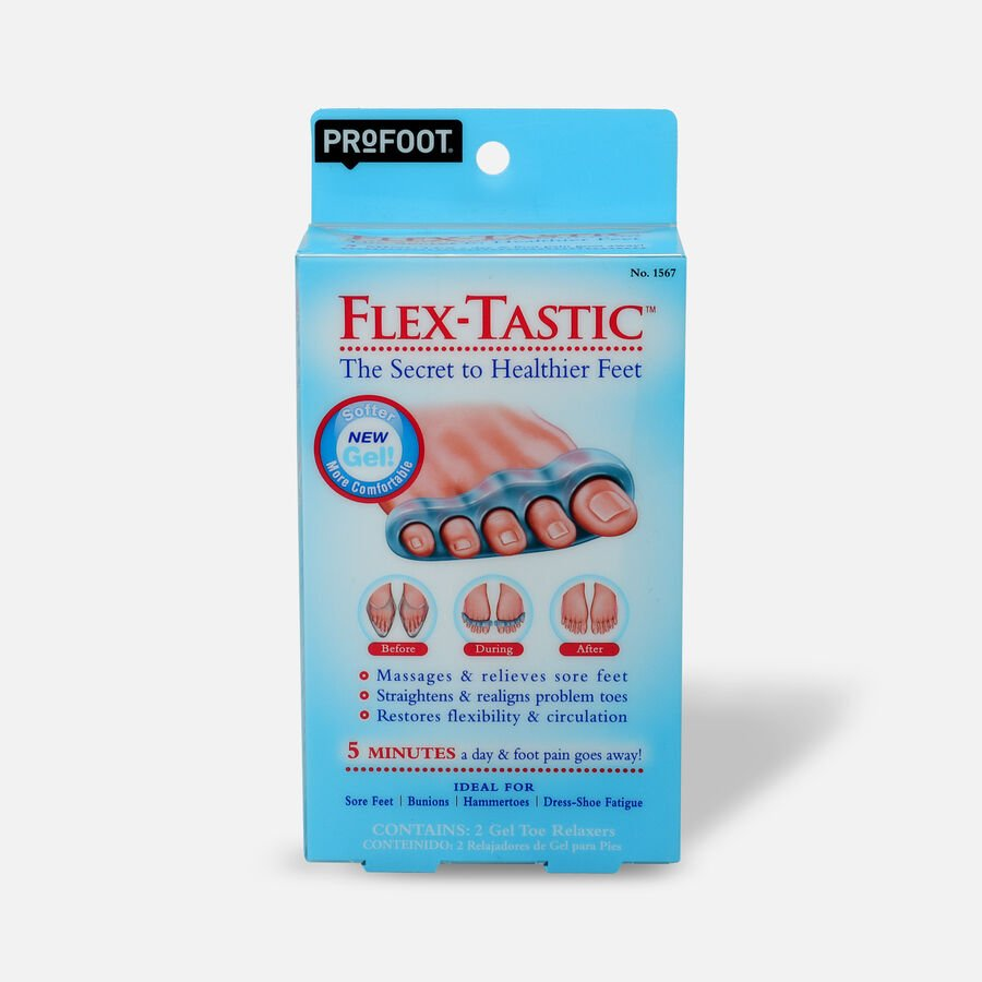 Profoot Care Flex-Tastic, Gel Toe Relaxers, , large image number 1