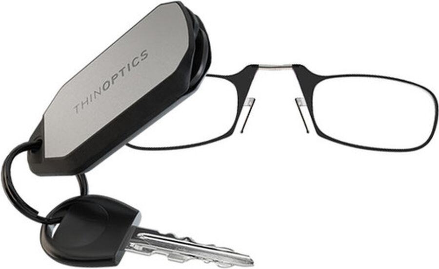 ThinOPTICS Keychain Reading Glasses, Black Frame, 2.50 Strength, , large image number 3