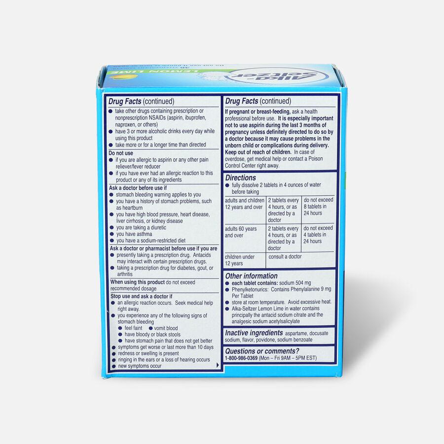 Alka-Seltzer, Lemon Lime Effervescent Tablets, 36 ea, , large image number 1