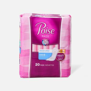 """Poise Incontinence Pads, Moderate Absorbency 10"""", 20ct"""