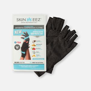 SKINEEZ Hydrating Unisex Compression Gloves - Gray