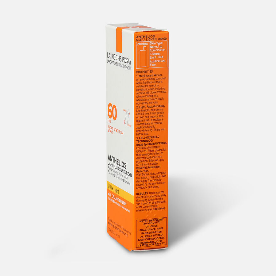 La Roche-Posay Anthelios Ultra Light Fluid Face Sunscreen Broad Spectrum SPF 60, 1.75oz, , large image number 4