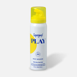 Supergoop! PLAY Body Mousse SPF 50 with Blue Sea Kale, 3oz.