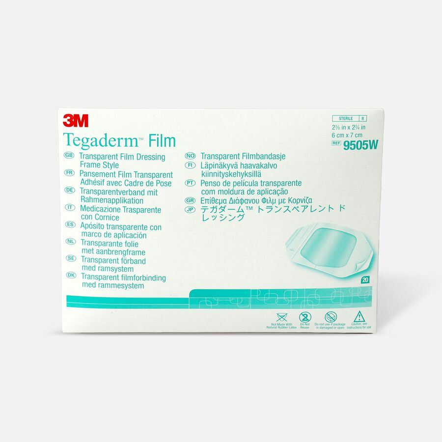 """Tegaderm Transparent Adhesive Film Dressing Picture Frame Style 2-3/8"""" x 2-3/4"""", , large image number 0"""