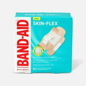 Band-Aid Skin-Flex Adhesive Bandages, Assorted Sizes, 60ct