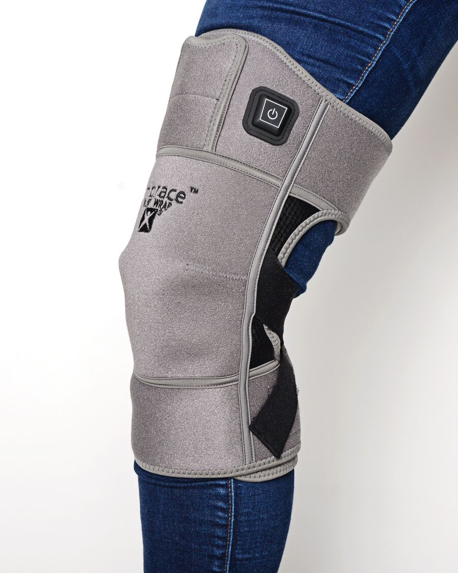Battle Creek Embrace ™ Relief Knee Wrap – Portable, 3 Temperature Settings, Auto Shut Off, Wireless & Rechargeable Wrap, Battery-Operated Heat Therapy Wrap for Knee Pain Relief, , large image number 23