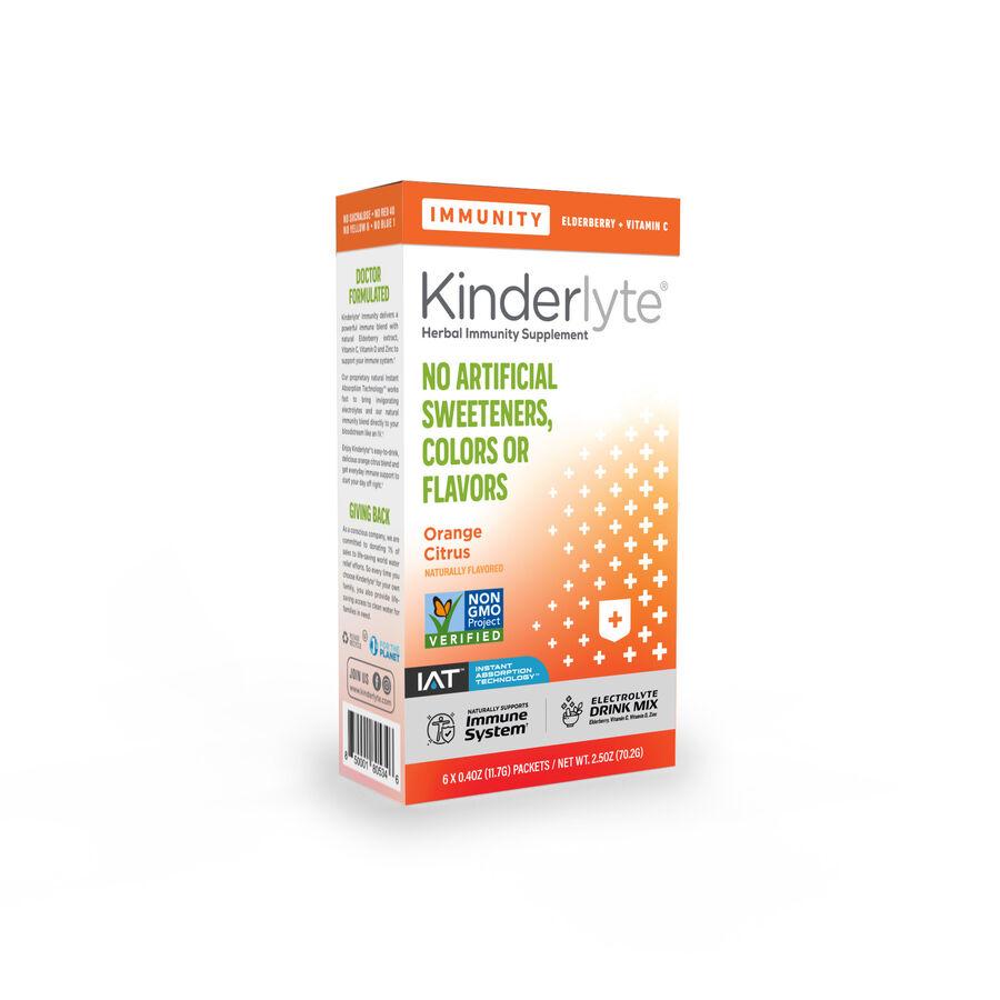 Kinderlyte Herbal Immunity Supplement Powder Orange Citrus, 6 Count, , large image number 1