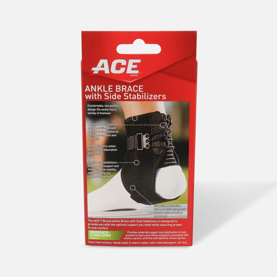 Ace Ankle Brace with Side Stabilizers, One Size, , large image number 1