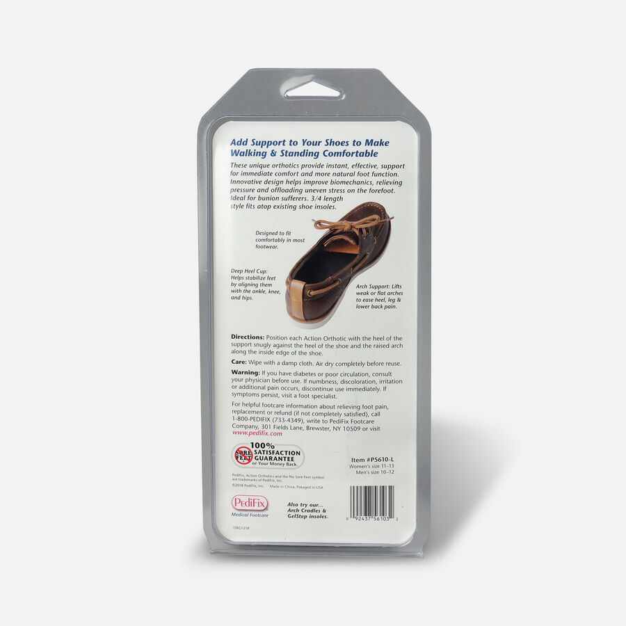 Pedifix Action Orthotics 3/4 Length Arch Support, , large image number 1