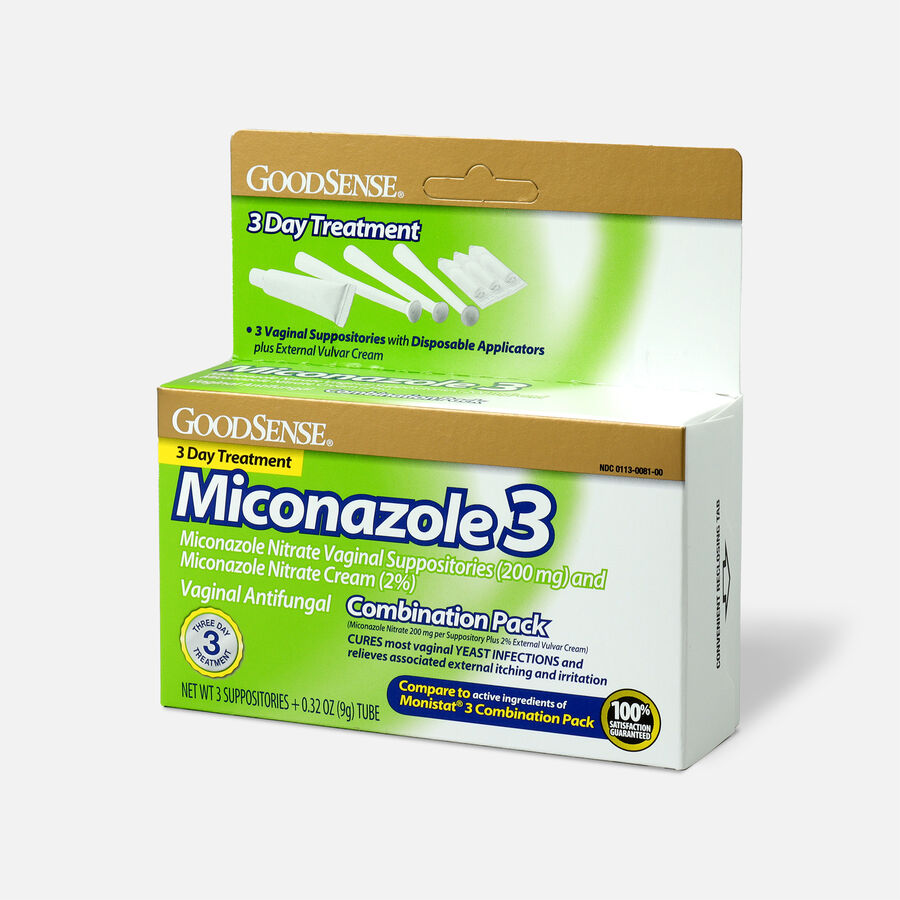 GoodSense® Miconazole 3 Combination Pack, Suppositories with Applicators and Cream, , large image number 2