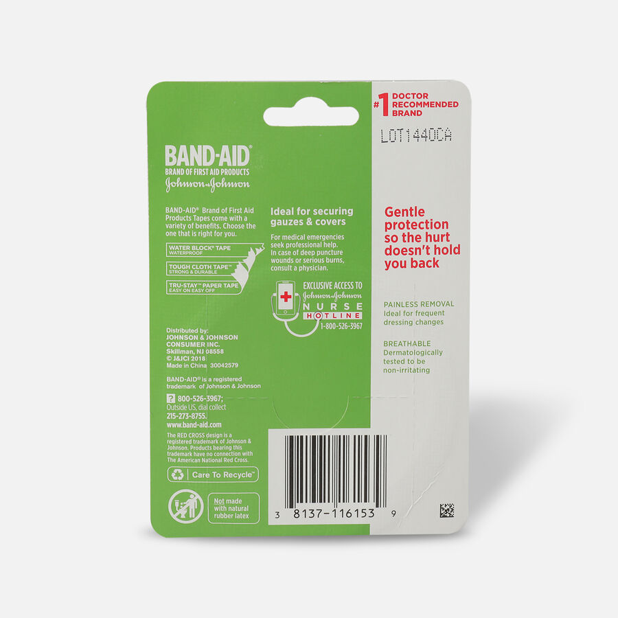 "BAND-AID® HURT-FREE® Paper Tape, 1"" x 10yds - 1 roll, , large image number 1"