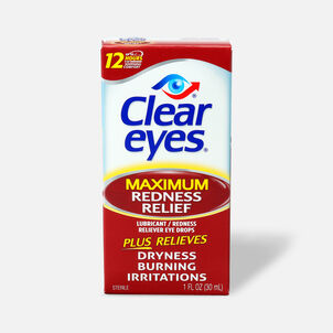 Clear Eyes Max Redness Relief Drops, 1 oz