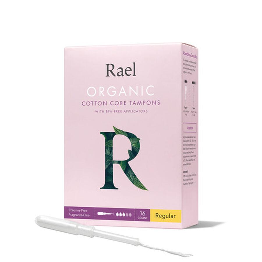 Rael Organic Cotton Core Tampons with BPA-Free Applicators - Regular, 16ct, , large image number 3