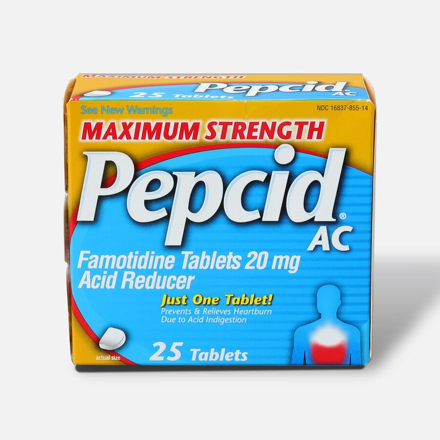 Maximum Strength PEPCID AC Tablets, 25 Count, , large image number 0