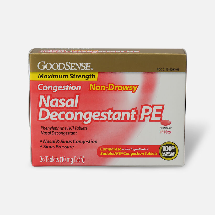 GoodSense® Nasal Decongestant PE 10 mg Non Drowsy Tablets, , large image number 0