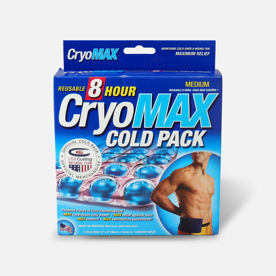 Cryo-Max Cold Pack with Flexible Straps, Reusable, Medium, 1 ea, , large image number 0