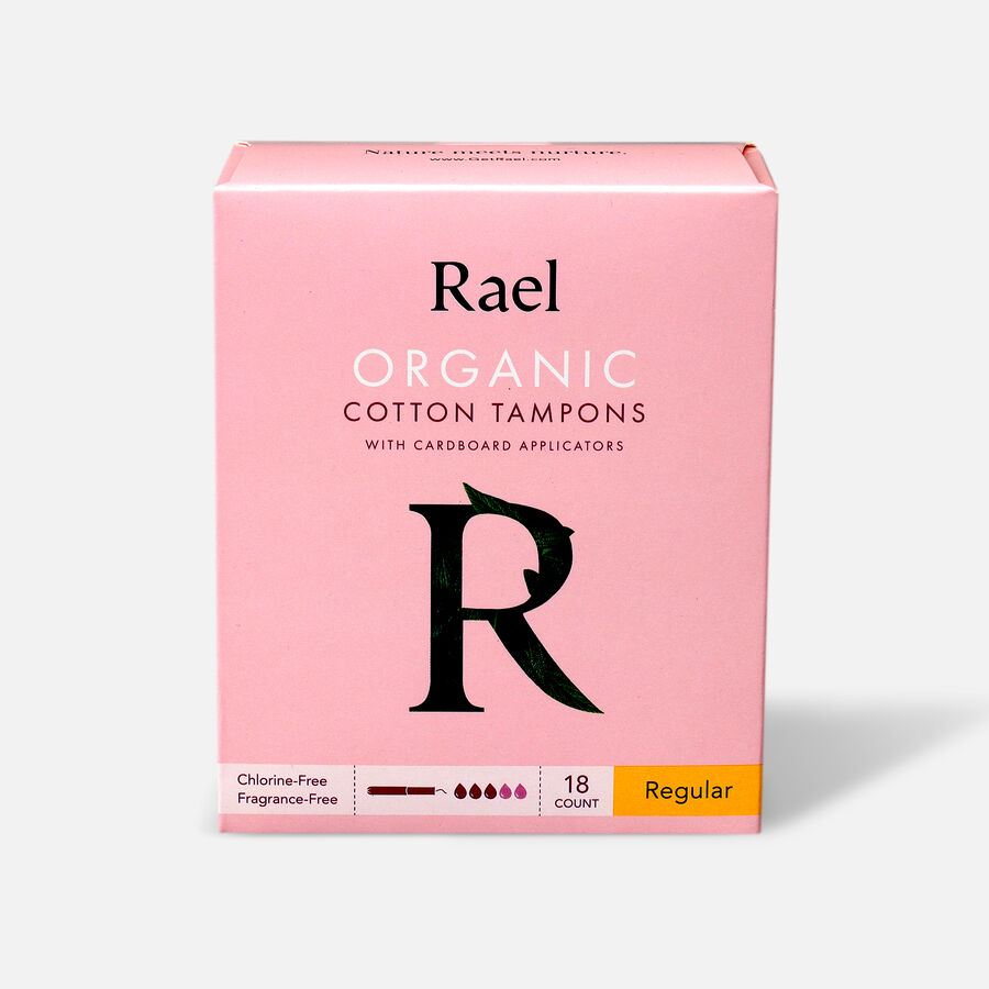 Rael Organic Cotton Tampons with Cardboard Applicator, , large image number 0