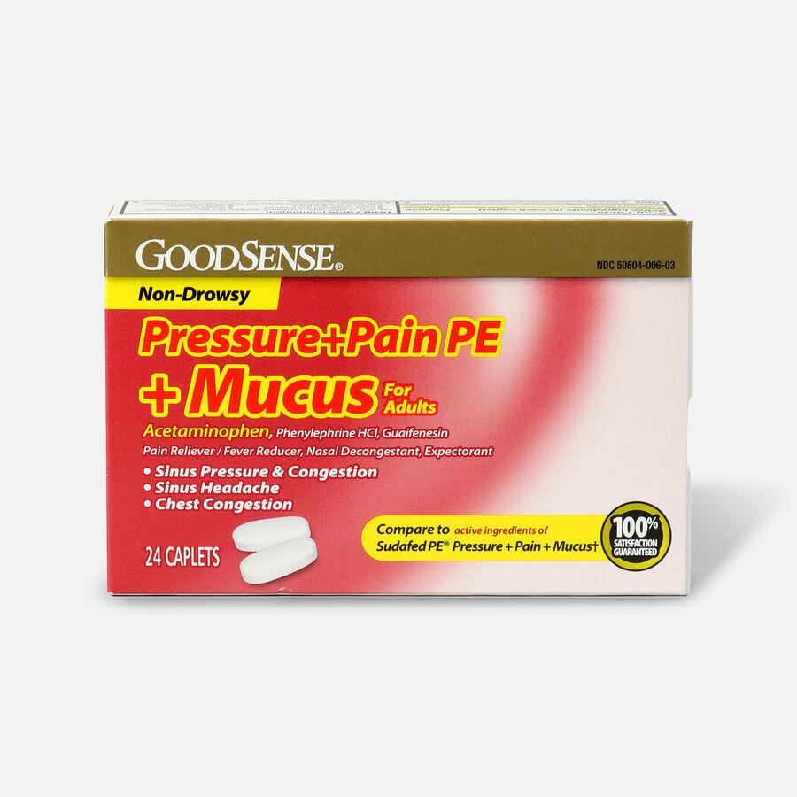 GoodSense® Pressure + Pain PE + Mucus Relief Adult Caplets, 24 ct, , large image number 0
