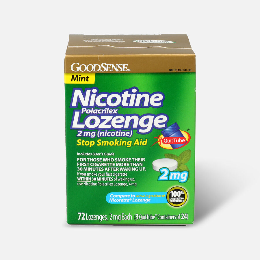 GoodSense® Nicotine Polacrilex Lozenge 2 mg (nicotine), 72 ct, , large image number 0