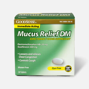 GoodSense® Immediate Acting Mucus Relief DM Tablets, 400 mg/20 mg, 30 ct
