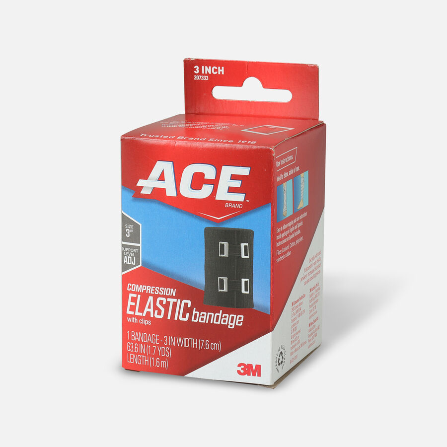 Ace Elastic Bandage with Clips - Black, , large image number 2