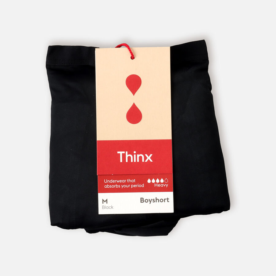 Thinx Period Proof Boyshort, Black, , large image number 2