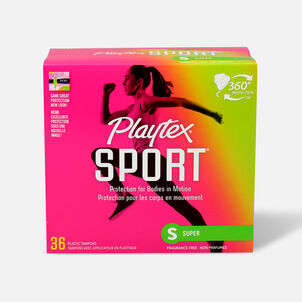 Playtex Sport Super Tampons, Unscented