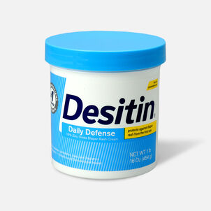 Desitin Daily Defense Zinc Oxide Diaper Rash Cream Jar, 16 oz