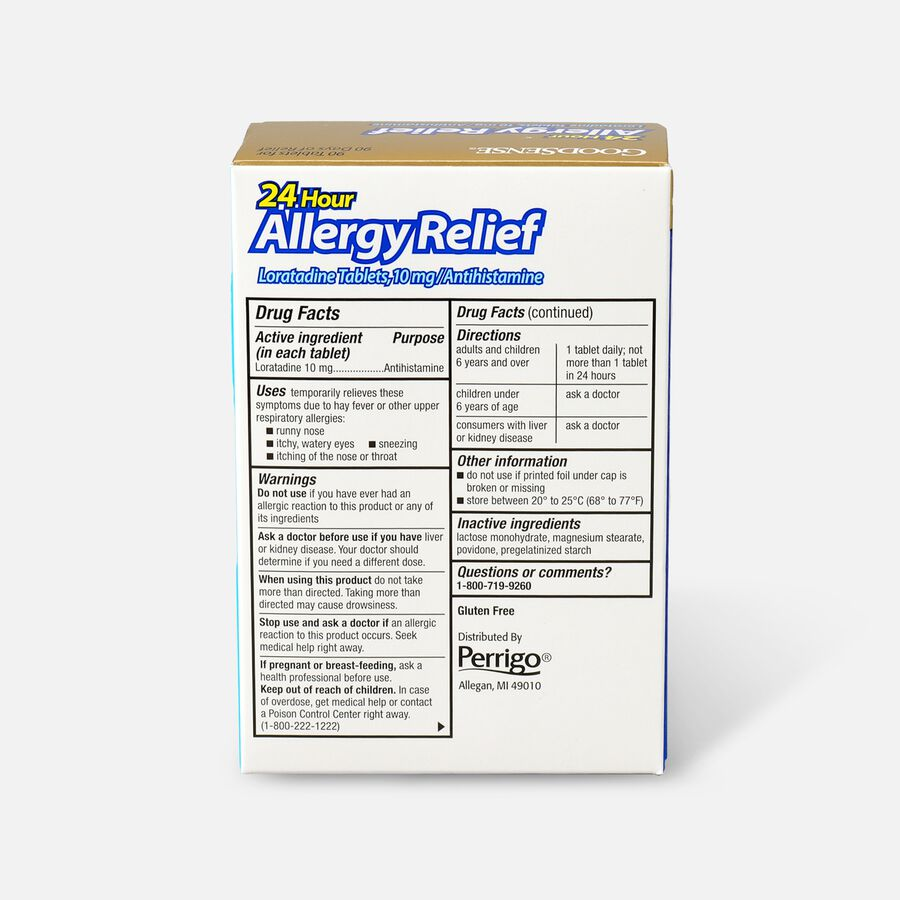GoodSense® Allergy Relief Loratadine Tablets 10 mg, 90 ct, , large image number 1