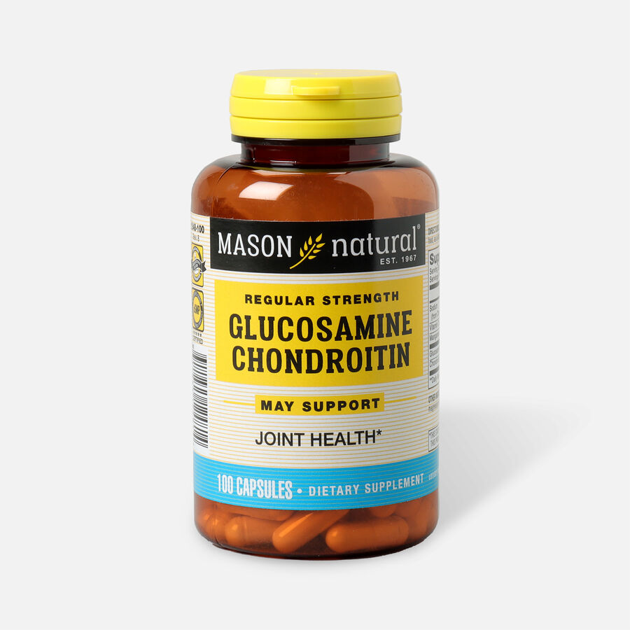 Mason Vitamins Natural Glucosamine Chondroitin Regular Strength, 100 Capsules, , large image number 0