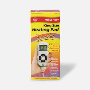 """Cara Moist/Dry LCD Heating Pad with Select Heat 12"""" x 15"""", Model 72"""