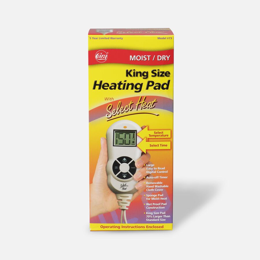 """Cara Moist/Dry LCD Heating Pad with Select Heat 12"""" x 15"""", Model 72, , large image number 0"""