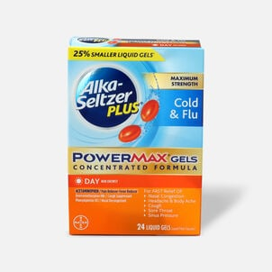 Alka-Seltzer Plus Cold & Flu PowerMax Gels, Day, 24ct
