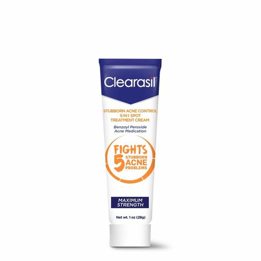 Clearasil Stubborn Acne Control 5in1 Spot Treatment Cream, 1oz., , large image number 0