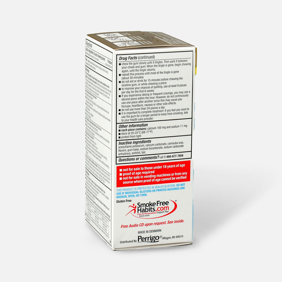 GoodSense® Nicotine Polacrilex Gum 2 mg, Original Uncoated, , large image number 6