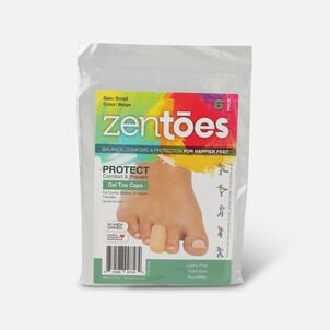 ZenToes Small Gel Toe Cap and Protector - 6 Pack