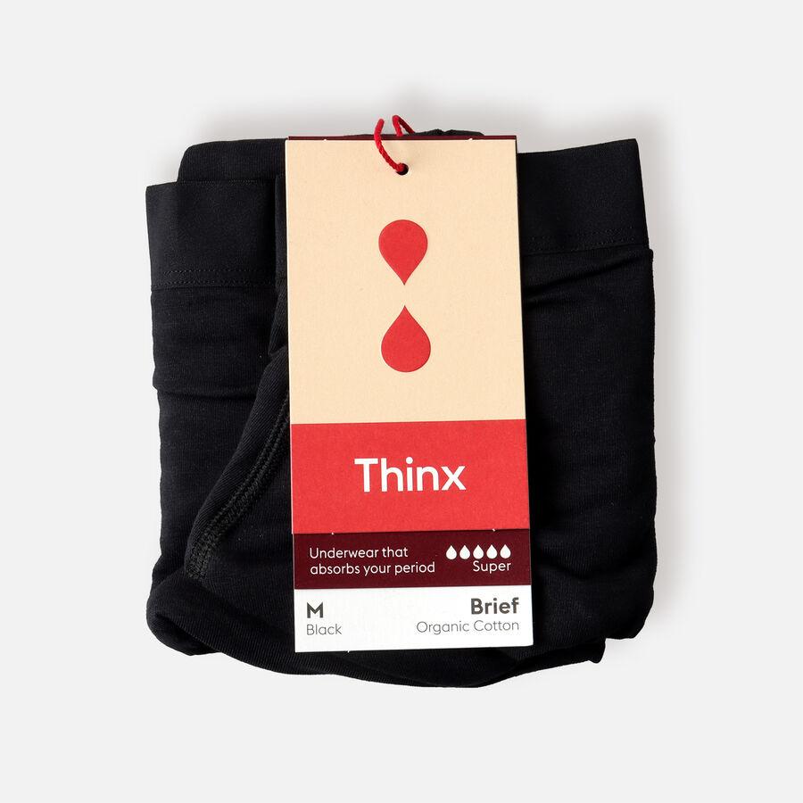 Thinx Period Proof Cotton Super Brief, Black, , large image number 1