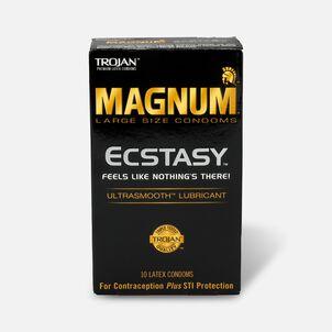 Trojan Magnum Ecstasy, Premium Latex Condoms, 10 ea