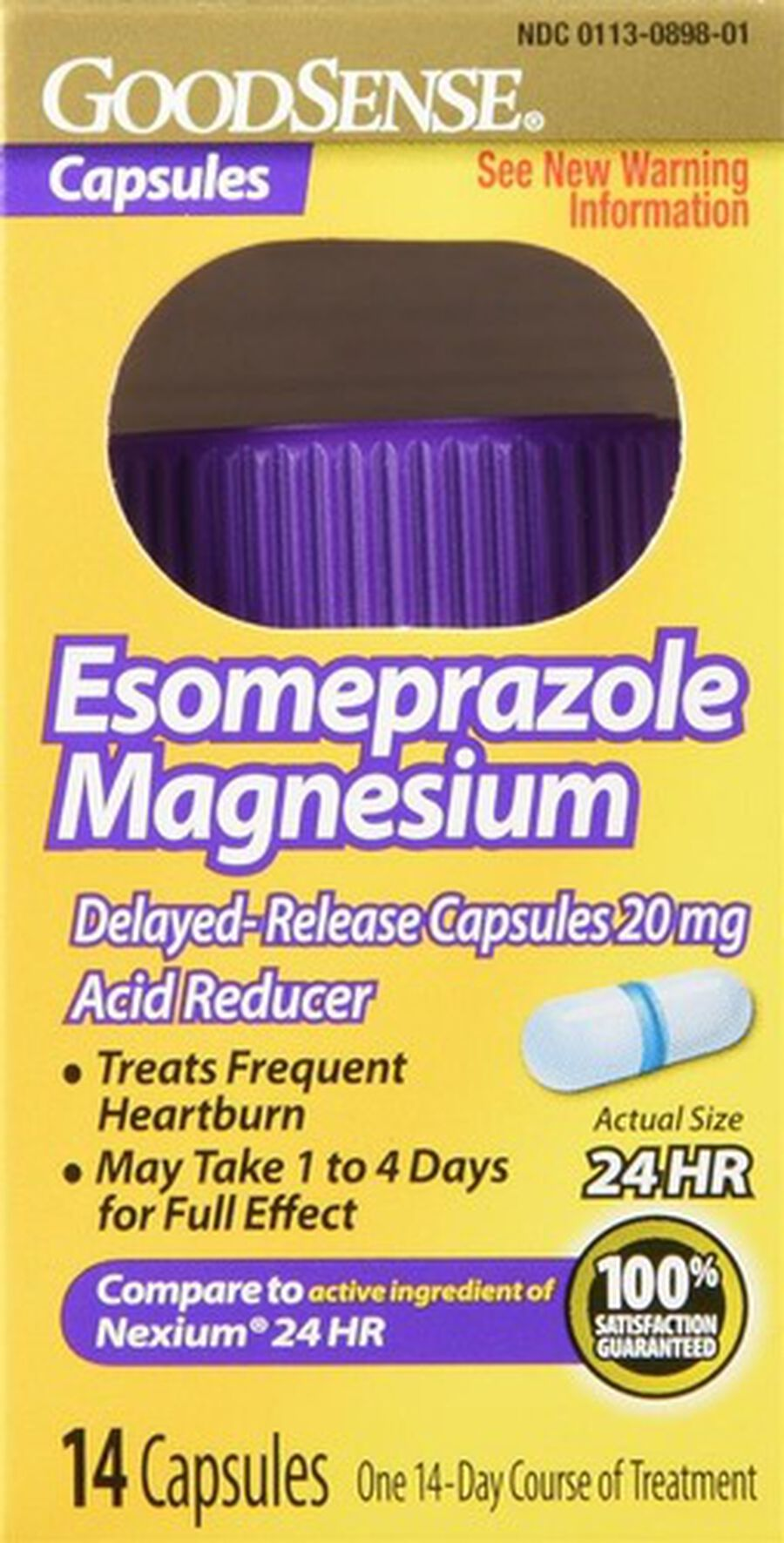 GoodSense® Esomeprazole Magnesium 20 MG, 24- Hr Delayed Release Capsules, 14 ct, , large image number 0