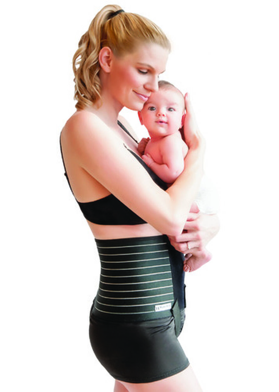 Mama Strut Postpartum Support Pelvic Binder with Ice/Heat Therapy, Black, , large image number 4