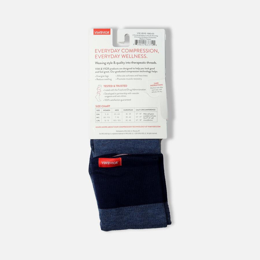 VIM & VIGR Cotton Socks, Heathered Collection Navy, 30-40 mmHg, , large image number 2