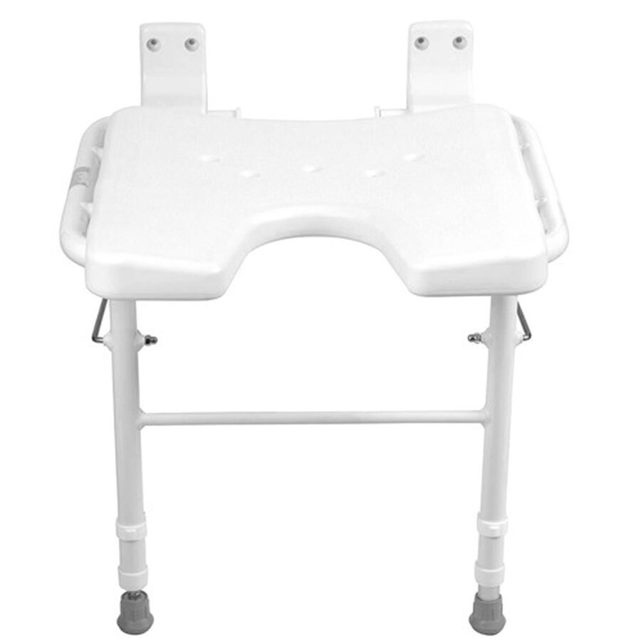 Healthsmart® Wall Mount Fold Away Shower Seat Bench, , large image number 3
