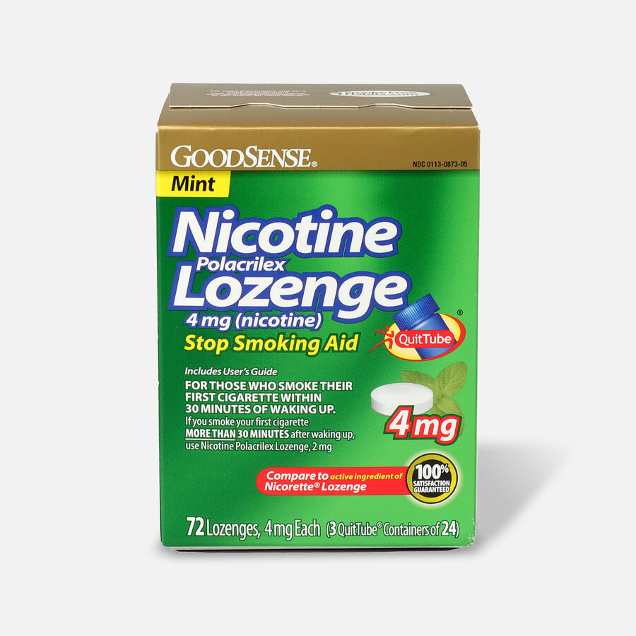 GoodSense® Nicotine Polacrilex Lozenges, 4 mg (nicotine), Mint Flavor,72 ct, , large image number 0