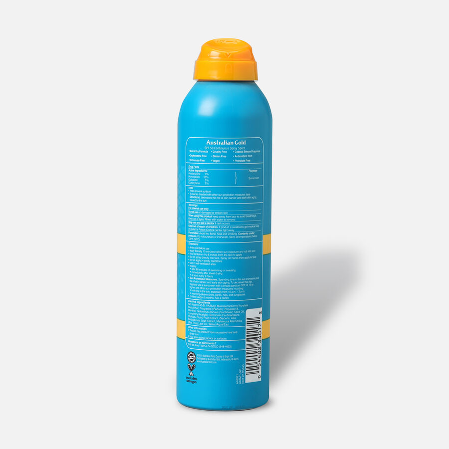 Australian Gold Extreme Sport Continuous Spray Ultra Chill, 5.6oz, , large image number 3