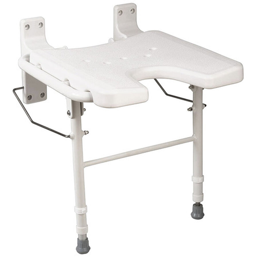 Healthsmart® Wall Mount Fold Away Shower Seat Bench, , large image number 0