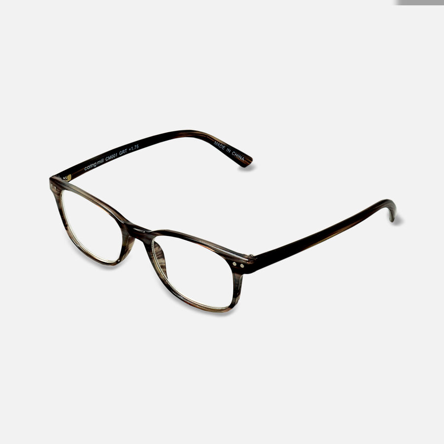 Caring Mill™ Reading Glasses, Gray Tortoise, , large image number 3