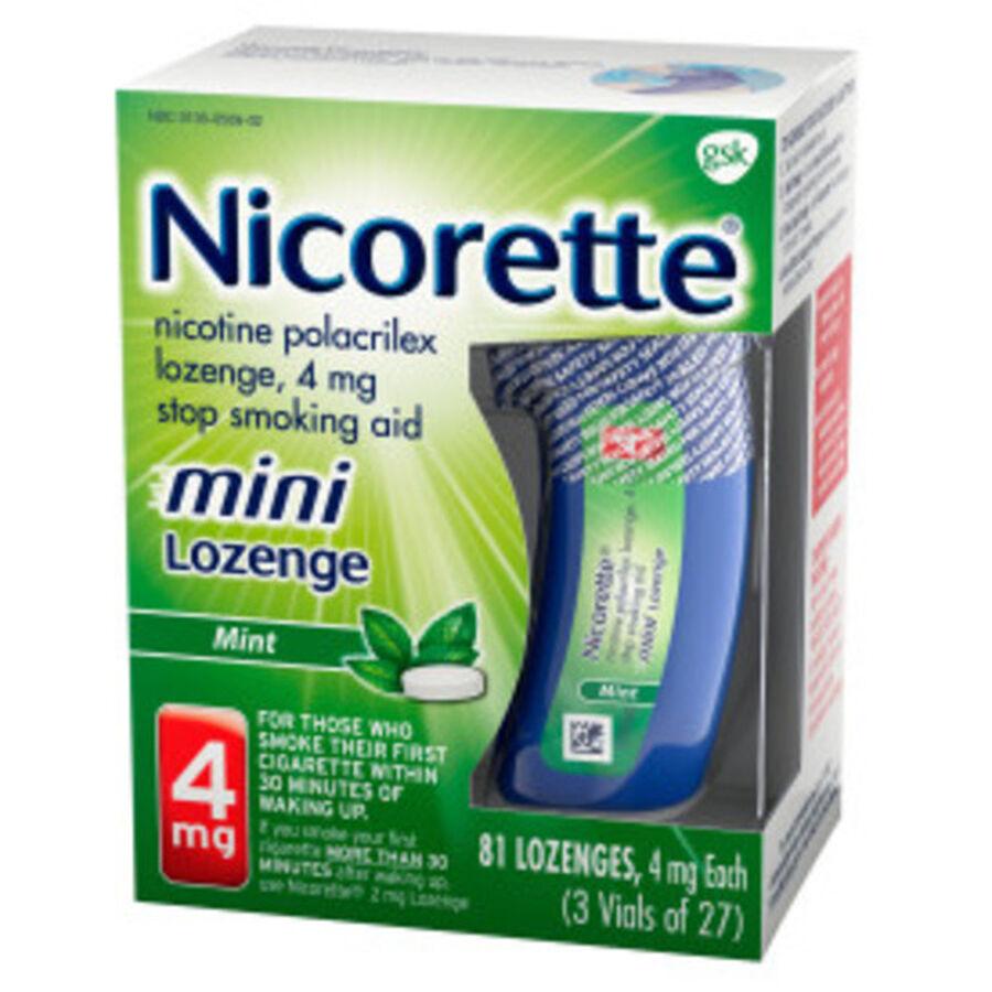 Nicorette Nicotine Lozenges, Mint, 4mg, 81 ct, , large image number 9
