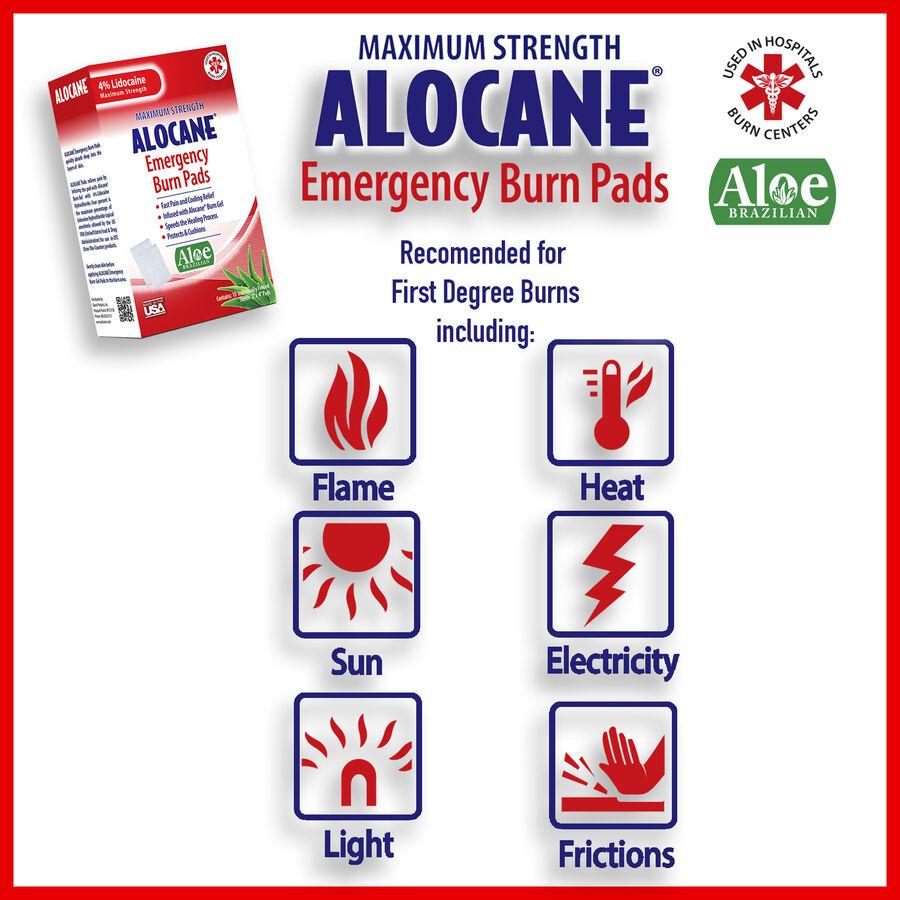 Alocane Maximum Strength Emergency Burn Pads, 10 ct, , large image number 4